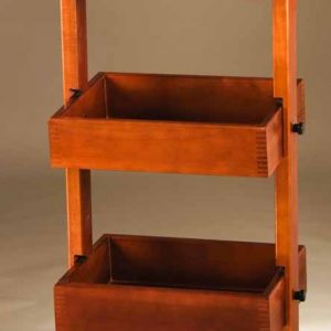 Movable Wooden Display Rack