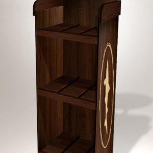 Wood Display for Coffee or Food